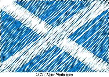 Scottish flag, vector illustration