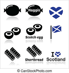 Scottish food - Haggis icons