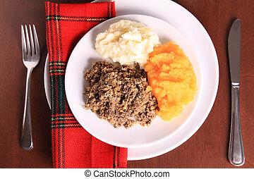 Scottish Haggis Dinner - Scottish Haggis Table Setting For A...