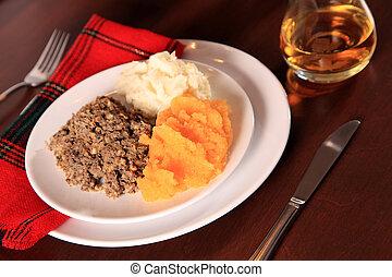 Scottish Haggis Supper - Scottish Haggis Table Setting For A...