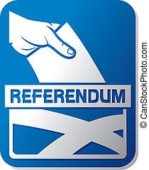 Scottish independence referendum - illustration of a ballot ...