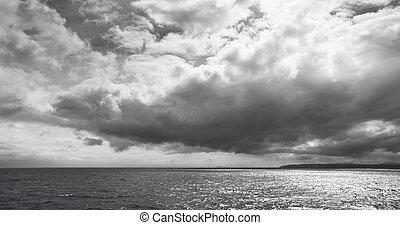 Scottish landscape with ocean and sky. Lewis isle. Scotland. UK