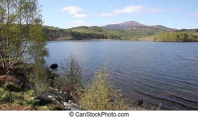 Scottish Loch Garry Scotland UK pan - Scottish Loch Garry...