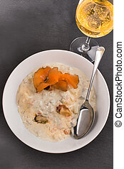 scottish seafood chowder in a deep plate