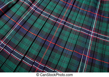 Scottish tartan pattern, part of a traditional kilt
