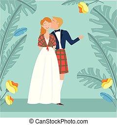 Scottish wedding image
