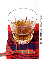 Scottish Whiskey - Scottish Malt Whiskey in crystal glass...