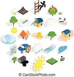 Scourge icons set, isometric style - Scourge icons set....