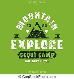 scout, écusson, camp