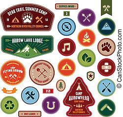 Scout badges - Set of scout badges and merit badges for...