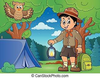 Scout boy theme