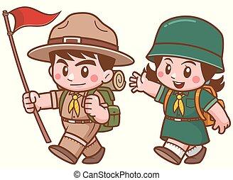 scout, caractère, gosses