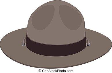 scout, chapeau, camp