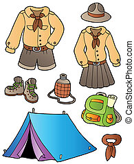 Scout clothes and gear collection