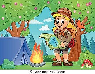Scout girl theme