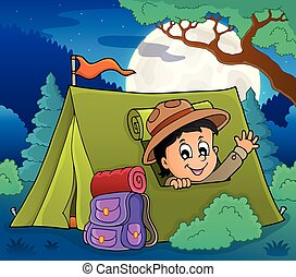 Scout in tent theme image 2