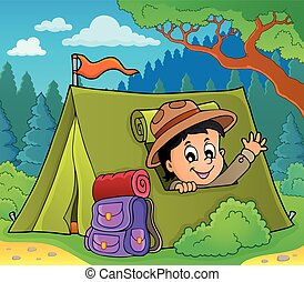 Scout in tent theme image 3