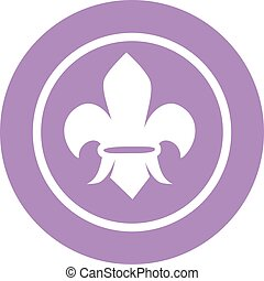 Scout sign vector illustration.