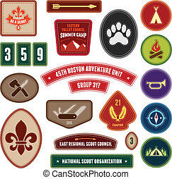 Scouting badges - Set of scouting badges and merit badges...