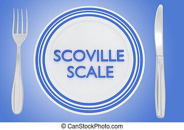Scoville Scale concept - 3D illustration of 'SCOVILLE SCALE'...