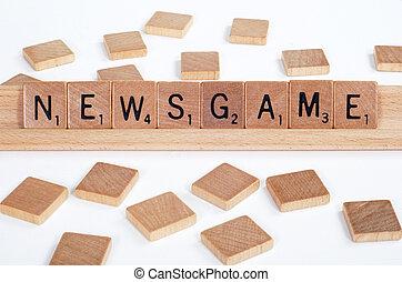 scrabble, dehors, 'newsgame', sortilège, tuiles