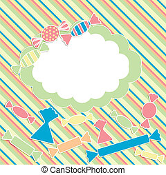 scrabbok background with sweets
