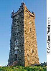 scrabo, toren, oud, ierland, noordelijk
