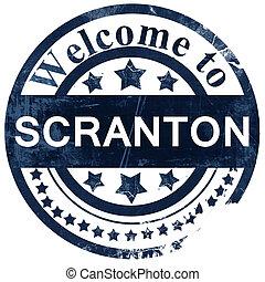 scranton stamp on white background