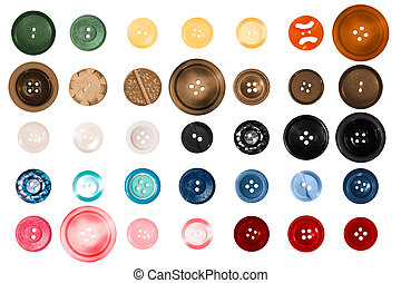 Scrap Booking Buttons - a large variety of different colored...