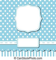 Scrap card - Scrap template of pretty vintage design with...