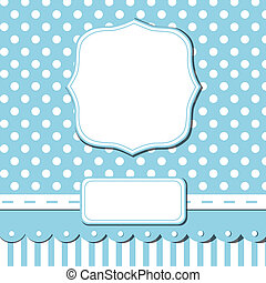 Scrap card - Scrap template of pretty vintage design with...
