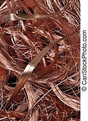 Scrap copper wire background