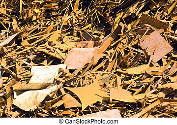 Scrap Heap background - A background grungy texture of a...