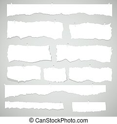 scrap of white paper - Scrap paper. Torn pieces of white...