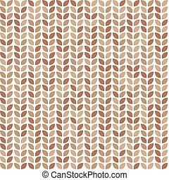 Scrap seamless pattern with brown leaves