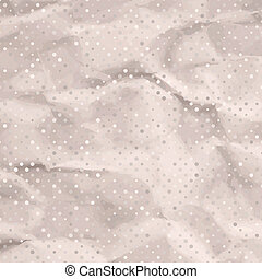 Scrap template,vintage polka dot pattern. EPS 8