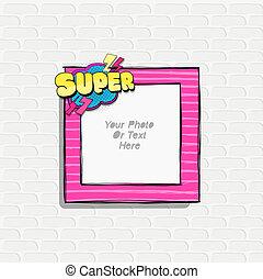 Scrapboo template frame