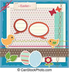 scrapbook, állhatatos, húsvét