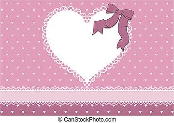scrapbook, amor, cartão, fundo