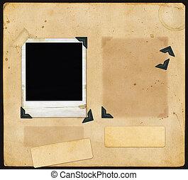 scrapbook, antigas, página