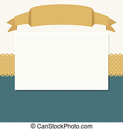 scrapbook background - blank ribbon header and frame for...