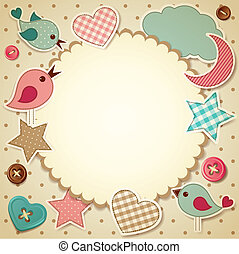Scrapbook background - Vector illustration - scrapbook...