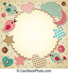 Scrapbook background - Vector illustration - scrapbook...
