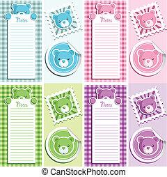 Cute scrapbook baby shower design elements.