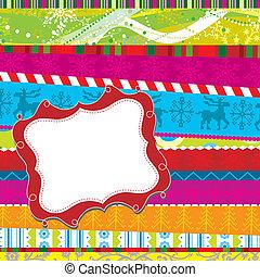 Scrapbook christmas patterns, vector