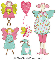Scrapbook Design Elements - Baby Doll Set - in vector