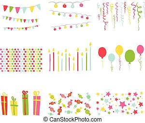 Scrapbook Design Elements Birthday Party Set