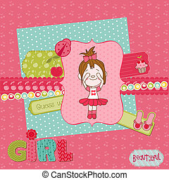 Scrapbook design elements - Cute Baby Girl Set