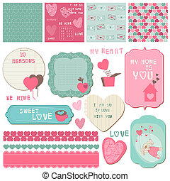 Scrapbook Design Elements - Love Set - for cards,...