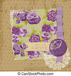 Scrapbook Design Elements - Vintage Flowers Scrapbook Page...